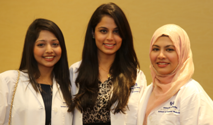 students in the international dentist program.