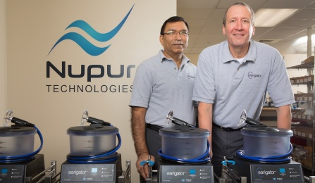 Brij M. Bansal, vice president of operations, and Joseph L. Priest, CEO, both Nupur Technologies LLC.