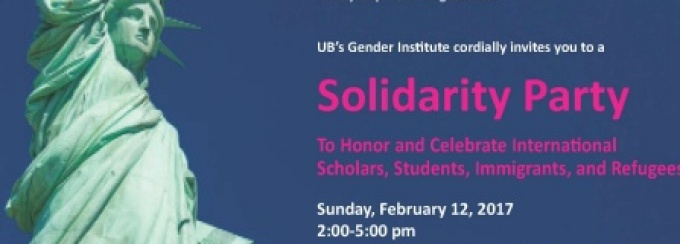Solidarity Party poster featuring an image of the Statue of Liberty.