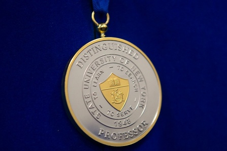 the SUNY Distinguished Professor medal.