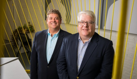 From left to right, Dan Verrico, chief marketing officer, and Dan Healy, founder and CEO, both of FiduciaSolutions.