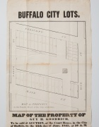 A map of Buffalo city property from the year 1845.