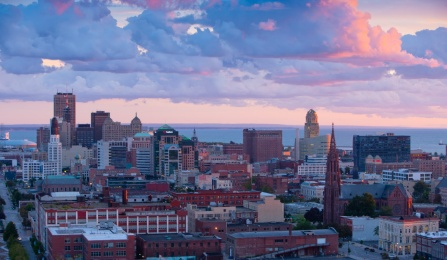 Downtown Buffalo skyline.