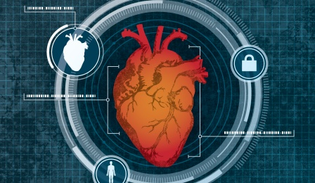 Illustration of heart-based computer security system