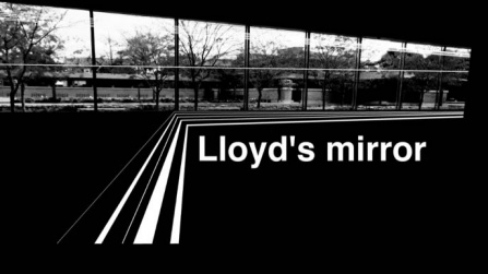 Lloyd's Mirror, which uses speakers and lights facing each other in a performance that will evolve over six days.