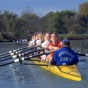 Buffalo Women's Crew team rowing.
